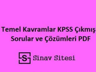 KPSS Matematik Temel Kavramlar Çıkmış Sorular ve Çözümleri Pdf İndir