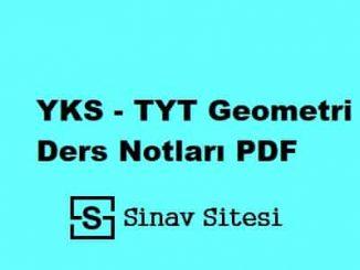 tyt geometri ders notları pdf