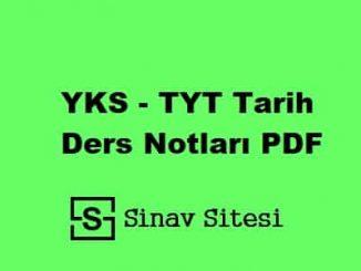 YKS - TYT Tarih Ders Notları PDF İndir