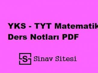 tyt matematik ders notları pdf