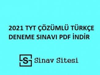tyt türkçe deneme sınavı pdf