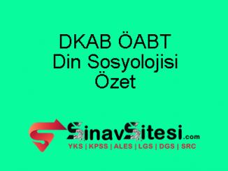 DKAB ÖABT Din Sosyolojisi Özet