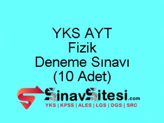 YKS AYT Fizik Deneme Sınavı
