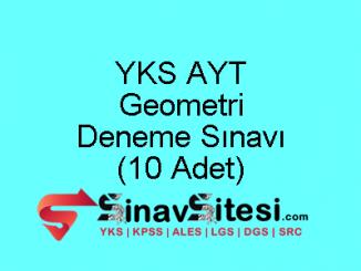 YKS AYT Geometri Deneme Sınavı