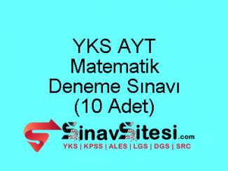 YKS AYT Matematik Deneme